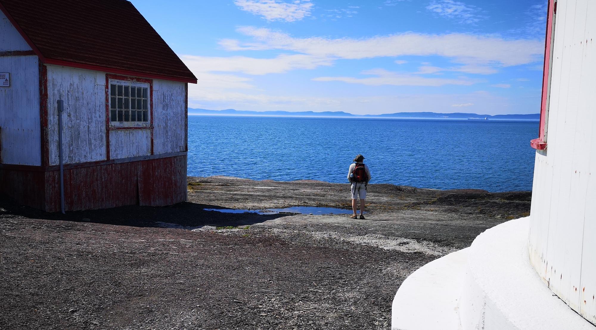 Jean sur le site du phare de l'île Verte. HR.