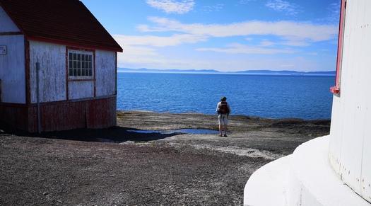 Jean sur le site du phare de l'île Verte.